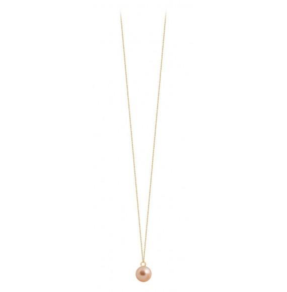 Sautoir perle rose