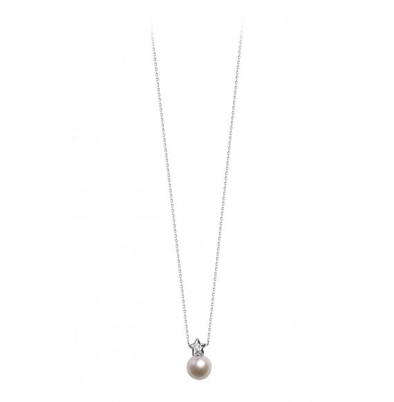 Linked Diamond star necklace