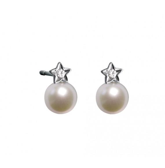 my pearly star earrings