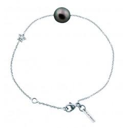 Bracelet Diamond Star perle noire