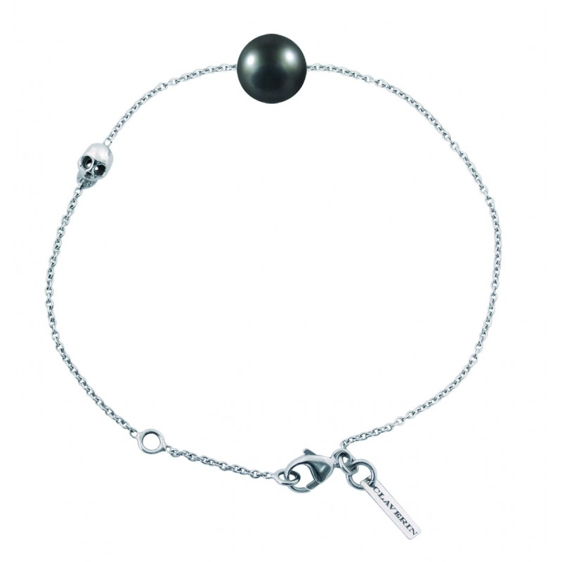 Noire Claverin Perle Bracelet Pearly Skull Nwm8n0