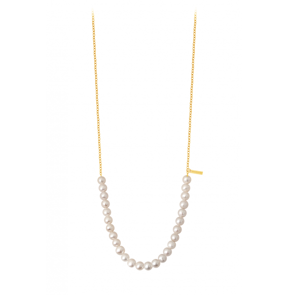 Rock my pearls perles blanches et or jaune