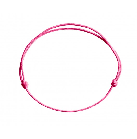 Cordon rose fluo