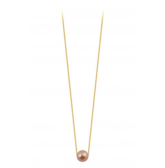 Simply pearly perle rose et chaine or jaune