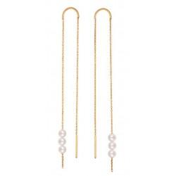 Long Rosary Earrings