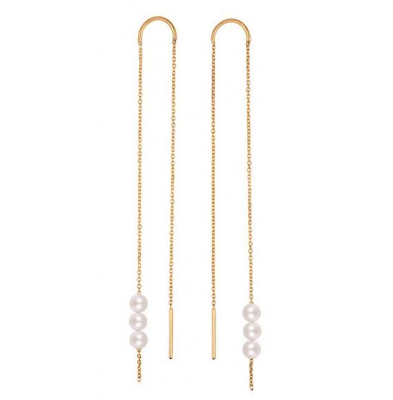Boucles d'oreilles Long Rosary