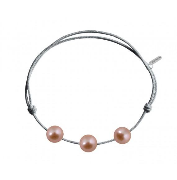 Three pearls perles roses