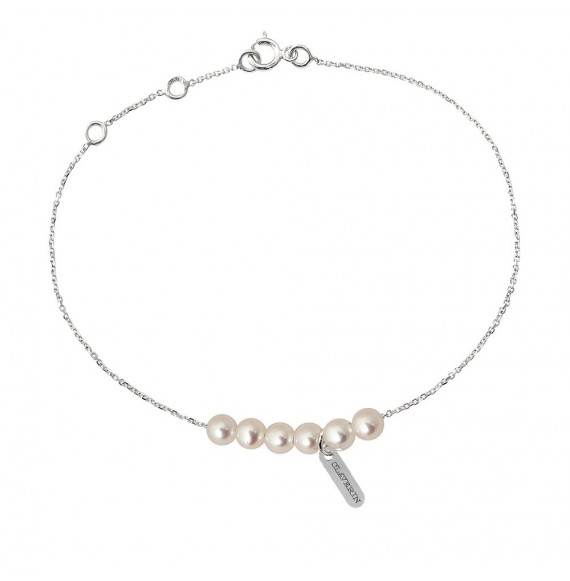Bracelet Rosary perles blanches