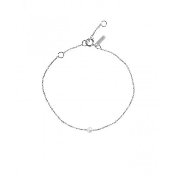 Simply mini bracelet white pearl