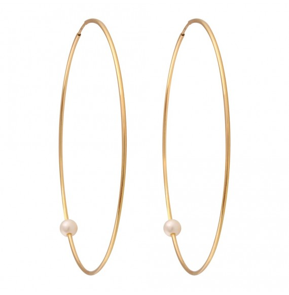 Pearly Hoop XL earrings
