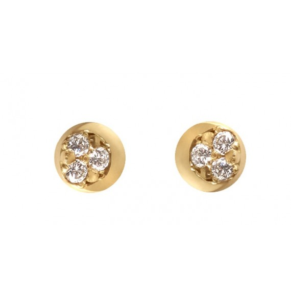 Diamond moon earrings