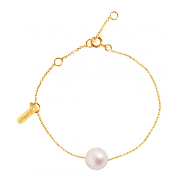 Bracelet Simply pearly perle blanche et or jaune
