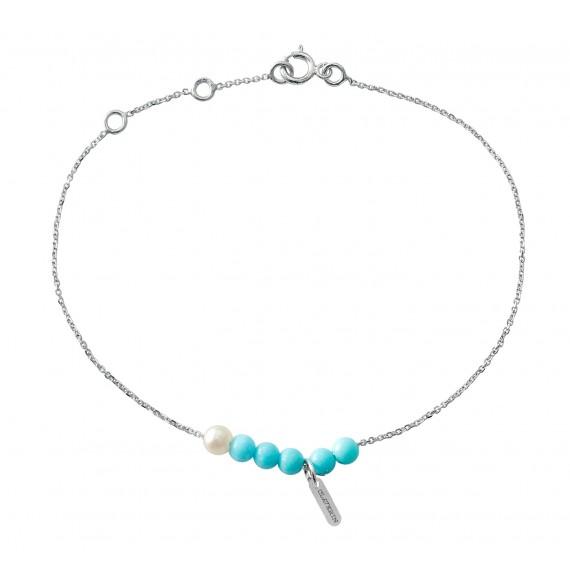 Bracelet Blue Rosary or blanc