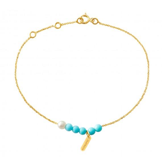 Blue / black rosary bracelet
