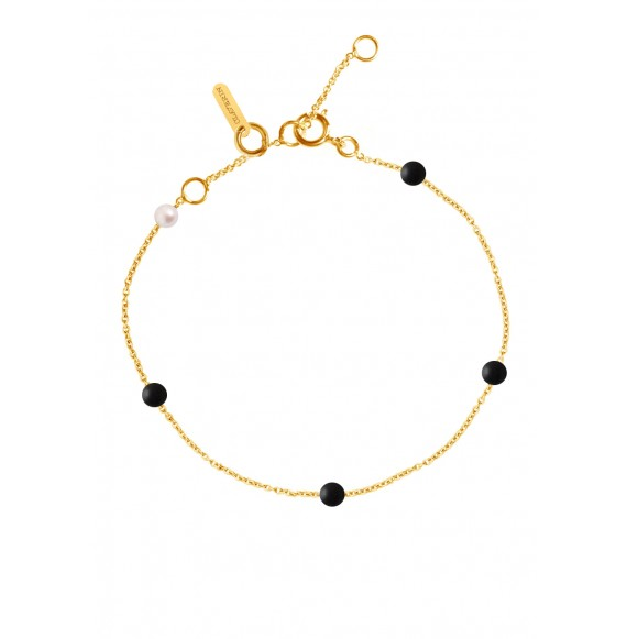 Bracelet Black Give me 5 or jaune