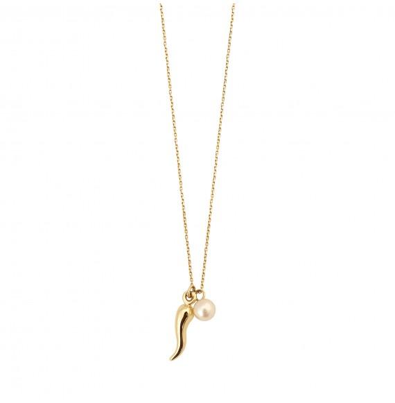 Charms Gazelle perle blanche