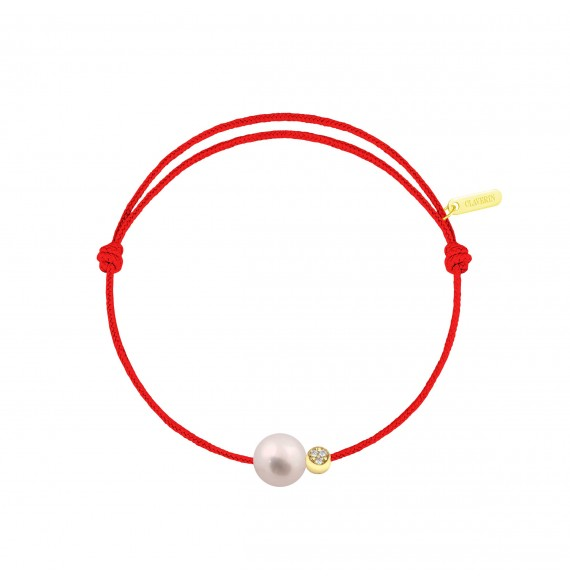 Simply Diamond Moon cordon rouge corail
