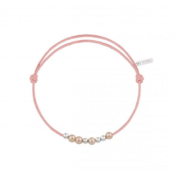 8 little treasures perles roses cordon rose poudré