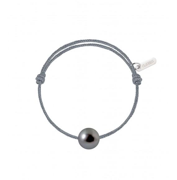 Baby pearly perle noire cordon gris cendré