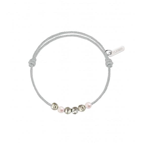 Baby Météorites cordon gris perle