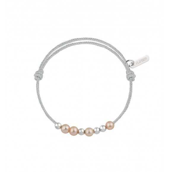 Baby 8 little treasures perles roses cordon gris perle