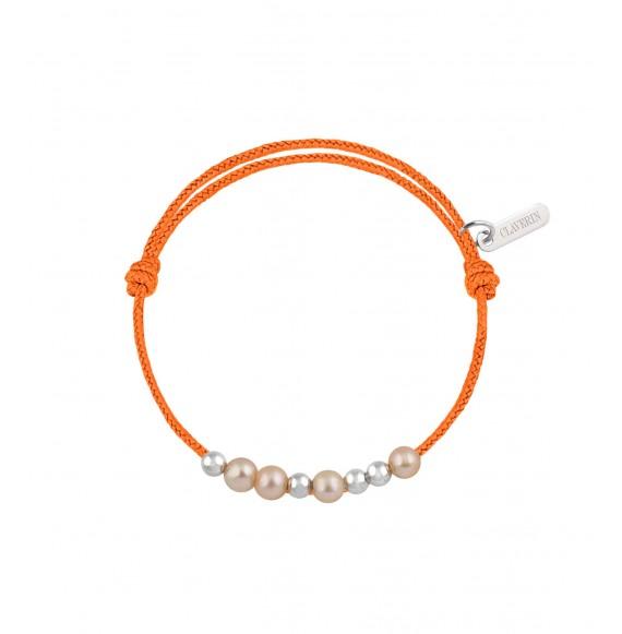 Baby 8 little treasures perles roses cordon mandarine