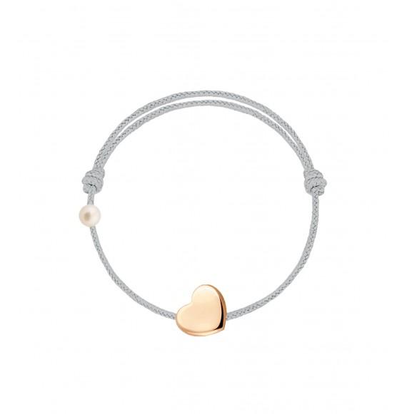 Le Coeur cordon gris perle