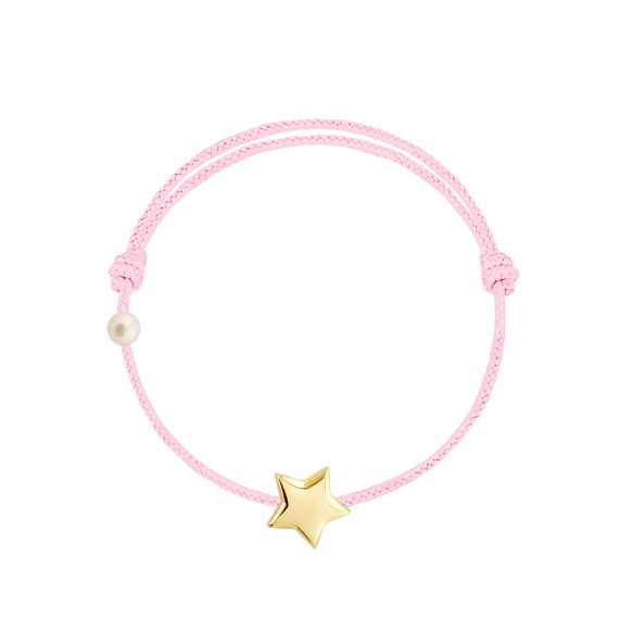 L'étoile cordon baby rose