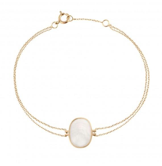 Bracelet Organic nacre blanche