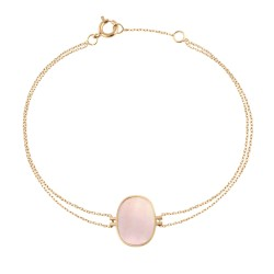 Bracelet Organic nacre rose