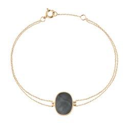 Bracelet Organic grey mother-of-pearl