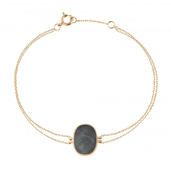 Bracelet Organic grey mother-of-pearl