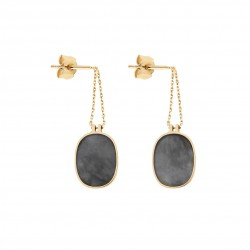 Organic grey mother-of-pearl earrings