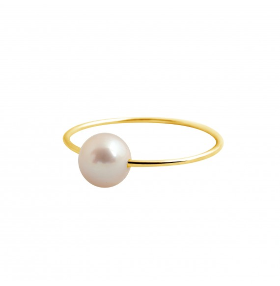 Bague Simply pearly perle blanche or jaune