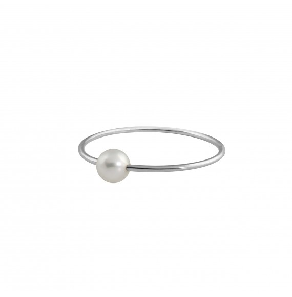 Bague Simply Mini or blanc perle blanche