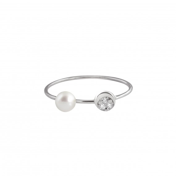 Mini diamond moon Ring