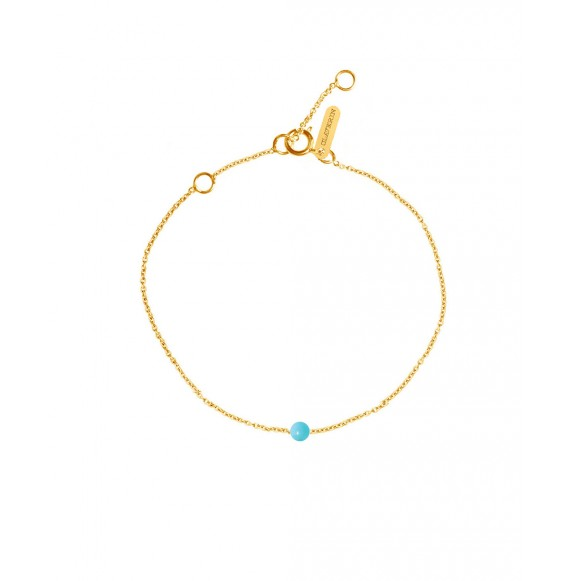Bracelet Simply mini perle de turquoise or jaune
