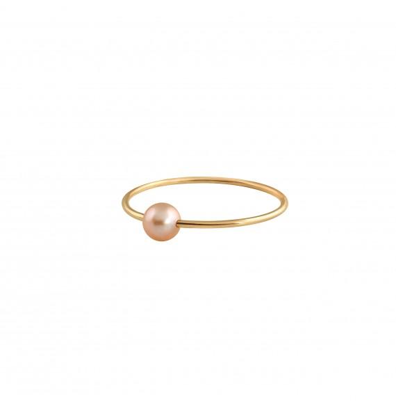 Bague Simply Mini or jaune perle rose