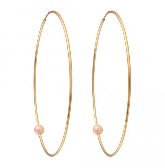 Pearly Hoop XL perles roses