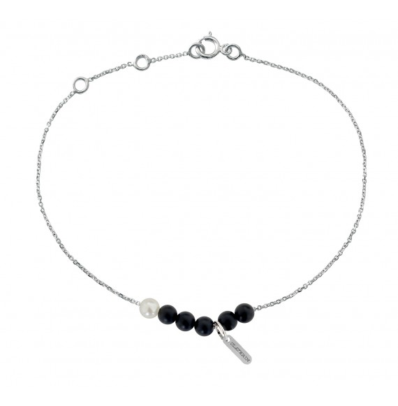 Bracelet Black Rosary or blanc
