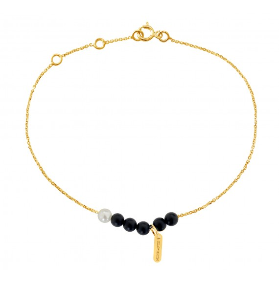 Bracelet Black Rosary or jaune