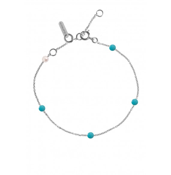 Bracelet Blue Give me 5 or blanc