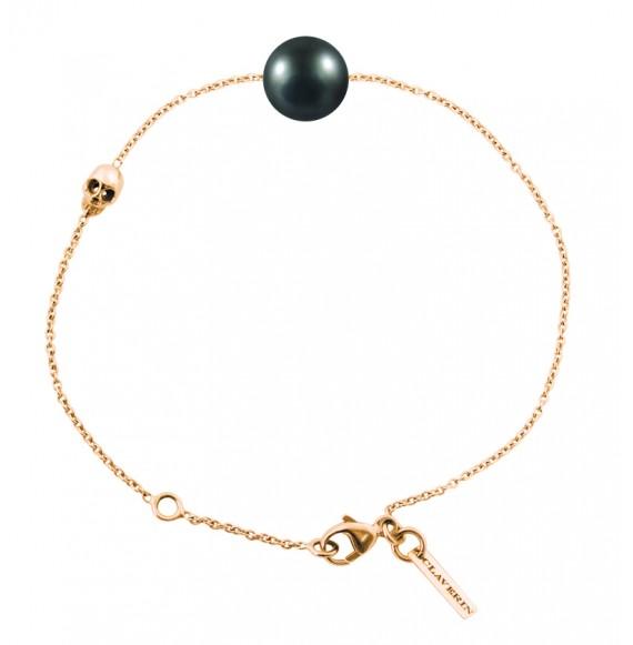 Bracelet Skull perle noire