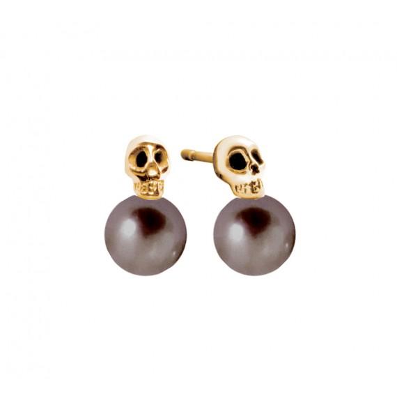My pearly skull earrings