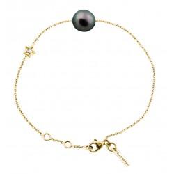 Diamond Star Bracelet (Black Pearl)