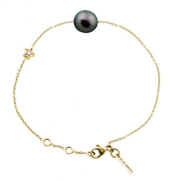 Diamond Star Bracelet (Black Pearl)