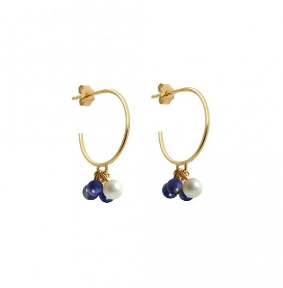 Bouquet of pearls earring